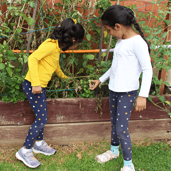 childcare centre kids playing in garden